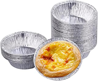 50PCS Disposable Aluminum Tinfoil Kitchen Egg Tart Mould Foil Paper Cups Tin Baking Tool Maker Holder Container For Cake Muffin Cupcake Cookie Pudding