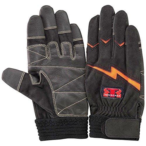 TONBOREX(トンボレックス) レスキューグローブ 作業用手袋 E-127R ブラック×オレンジ Mサイズ