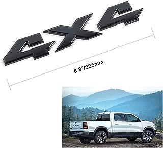 8.8 Inch 4x4 Emblem Badge for Ford Dodge Ram 1500 2500 3500 (Gloss Black)