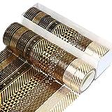 10 Rotoli Washi Tape Set Nastro Adesivo Decorativo Nastri Washi per Decorare Scrapbooking Agende Libri Album Foto e Artigianato Fai da te