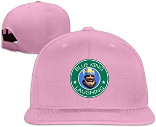 SAXON13 for Men Women Hip Hop Baseball-Caps Meshback Blue King Laughing Hat Caps Black