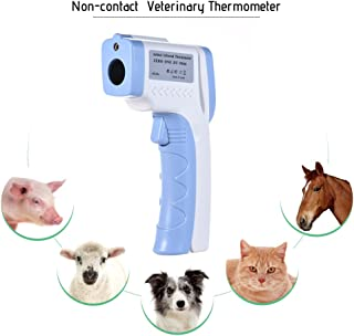 Ritioner Pet Infrared Thermometer, Digital Pet Thermometer,Non-Contact Infrared Veterinary Thermometer for Dogs Cats Horses and Other Animals C/F Switchable