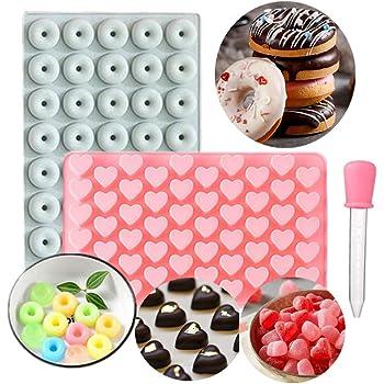 Mini Heart Silicone Mold Chocolate Ice Cube Tray Fondant Molds DIY Jello Candy