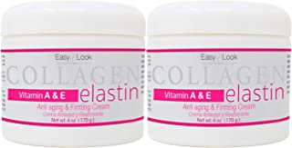 Collagen Elastin Cream Vitamins A & E Anti aging and Firming Cream 4oz 2 PACK