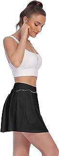 Korte tennisrok voor dames, voor yoga, skort, golf, sportrok, hardlopen, training, fitness, rok met binnenbroek, zakken