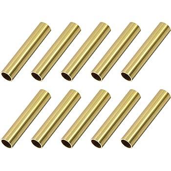 300 mm, 5 mm, di/ámetro exterior de 1 mm, 3 unidades Sourcingmap Tubo redondo de lat/ón