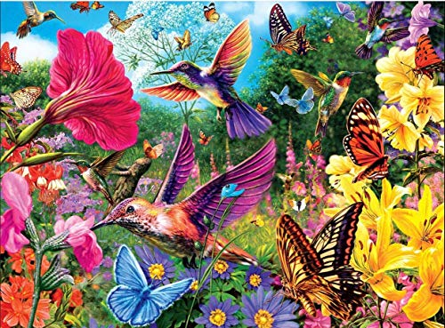 Jigsaw Puzzles 500 Pieces Educational Puzzle Toys for Adults and Kids Special Interactive DIY Gift Idea for Family and Friends (Hummingbird Garden)