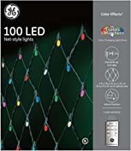 GE Color Effects 5-ft X 4-ft Multi-Function Remote Control Color Changing LED Christmas Net Lights