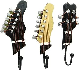 ❤Lemoning❤ Classical Guitar Shaped Decorative Hooks Rack Hangers Resin Hooks Wall Mounted