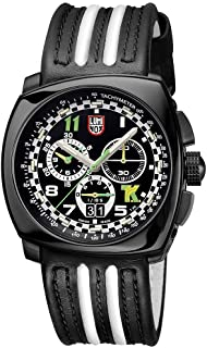 Luminox Black Outdoor Mens Watch Tony Kanaan Limited Edition XL.1142-100 M Water Resistant Stainless Steel Chronograph Antireflective Sapphire Crystal