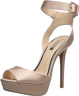 62aa789899600 Amazon.com  Pink - Heeled Sandals   Sandals  Clothing