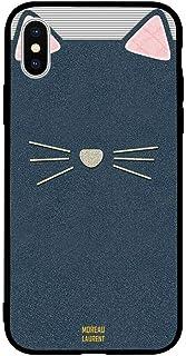 iPhone X / 10 Case Cover Cat Leather Pattern Moreau Laurent Premium Design Phone Covers