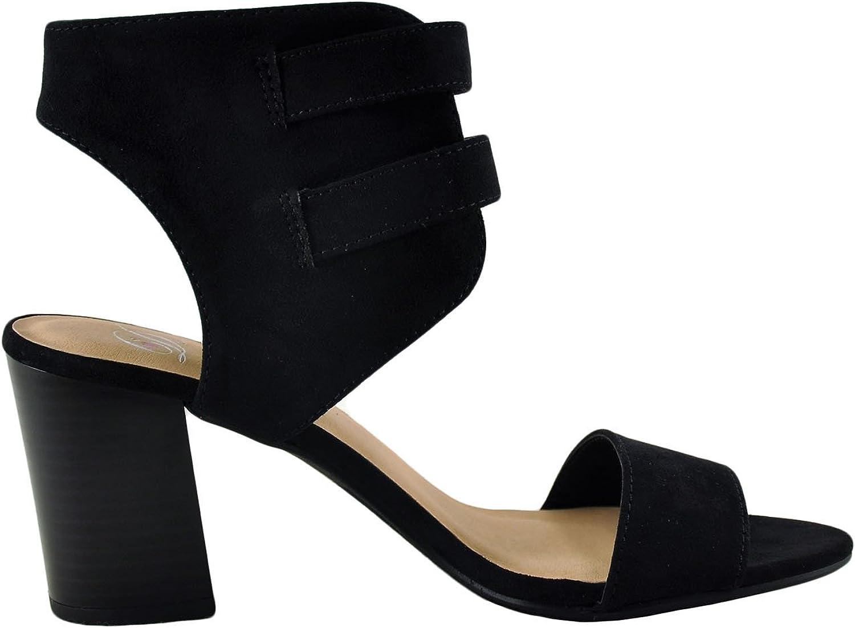 Delicious Surrell S Women's Open Toe Gladiator Double Buckle Heel