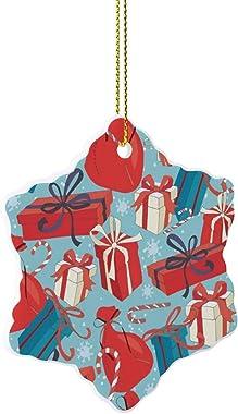 None-brands 2020 Christmas Ornament Quarantine Xmas Tree Decoration, Ceramic Christmas Ornament Presents for Family Friend Sh