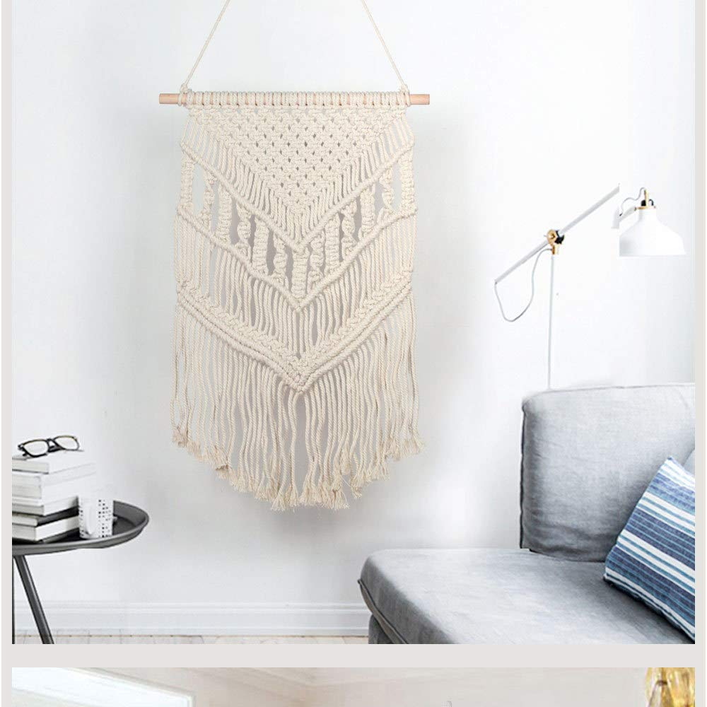 Bedroom Tapestry Macrame Tapestry Boho Living Room Cotton 34cm Wall Hanging