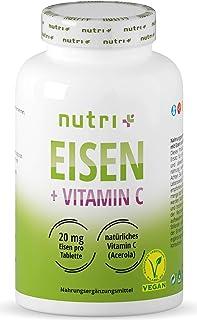 nutri+ Eisen + Vitamin C. 240 Tabletten Dose