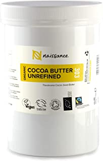 Naissance Organic & Fairtrade Cocoa Butter (no.303) 500g - Puur, Natuurlijk, Ongeraffineerd, Gecertificeerd Biologisch, Ve...
