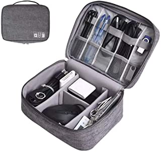 Travel Cable Organizer Bag,Travel Gadget Cables Electronics Accessories Organizer Bag,Stationery School Supplies - Portabl...