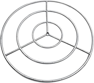 Onlyfire 36-inch Stainless Steel Round Fire Pit Burner Ring, Tripple Ring
