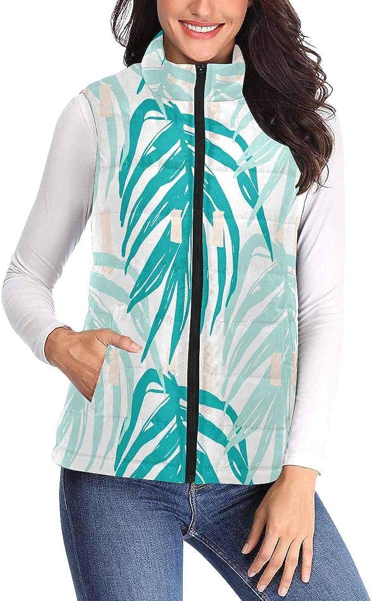 InterestPrint 40% OFF Cheap Sale Women's Zip Vest Outerwear Sleev Pockets Warm Max 47% OFF with