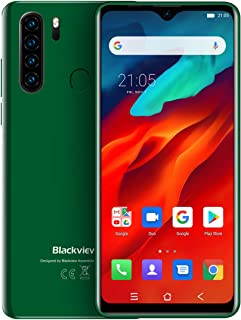 ブラックview A80 Proクアッドバックミラーカメラ6.49 'グローバルバージョンWaterdrop携帯電話4GB + 64GB (緑色)