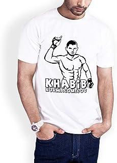Casual Printed T-Shirt for Men, The hero Habib Mammadov 03, White