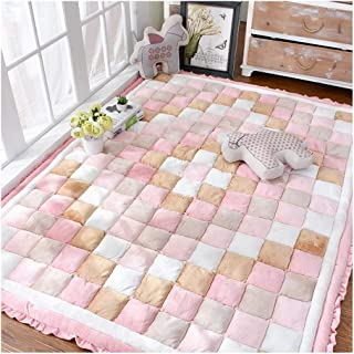 HLMIN Baby Crawling Mat Short Velvet Rectangel Carpet Bedroom Super Thick Soft Large Smooth Comfortable (Color : A, Size :...