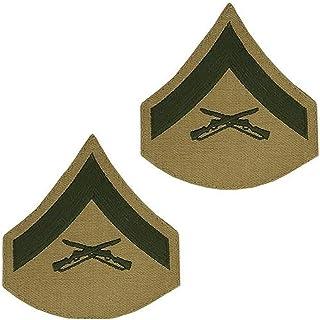 USMC Chevron Green on Khaki Enlisted Rank
