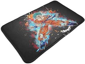 Xintaishirunjinluyoufazhany Goku Super Saiyan Blue Kaioken 10x Doormat Entrance Mat Floor Mat Rug Indoor/Outdoor/Front Door/Bathroom Mats Rubber Non Slip(50cmx80cm)