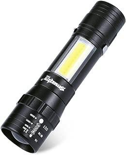 Fortan led ミニ 懐中電灯ライト 防災 自転車 キャンプ 防災用 停電 防災セット Q5 XPE SMD電球 二つモデル ズーム機能 小型 携帯しやすい 強力 充電電池 単3電池 14500 E65