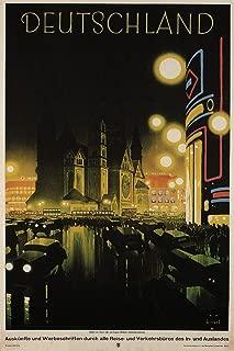 Deutschland Germany Vintage Travel Cool Wall Decor Art Print Poster 24x36