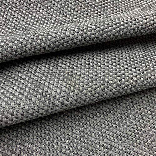 Kt KILOtela Tela de tapicería Lisa por Metro - Muy Resistente - Ancho 140 cm - Largo a elección de 50 en 50 cm - Tapizar Silla, sofá, Cojines   Gris