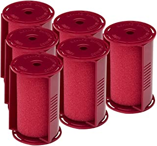 Caruso Professional Jumbo Molecular Replacement Steam Hair Rollers with Shields, 6-Pack, 1-3/4