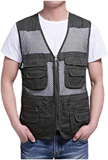 Howely Men Multi-Pockets Light Weight Work Outdoor Breathable Fishing Vest