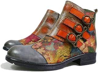 Leather Toe Inverno Rotonda Da Donna Stivali Side Zipper Warm Martin Stivali Tacco Basso Delle Signore Di Modo Shoes