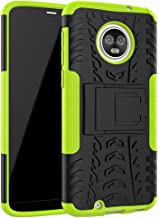 Moto G6 Case,Yiakeng Dual Layer Wallet Accessories Bumper Hard Protective Flip Waterproof Phone Cases Cover with A Kickstand for Motorola Moto G (6th Generation) 5.7