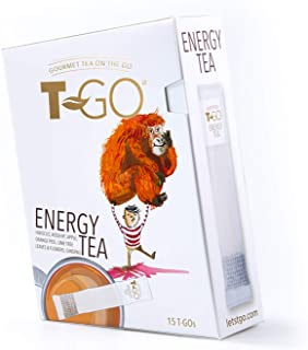 T-Go Energy, On-The-Go Tea, Convenient, Boost Mood and Improve Energy Anywhere with Natural Herbal Ingredie...