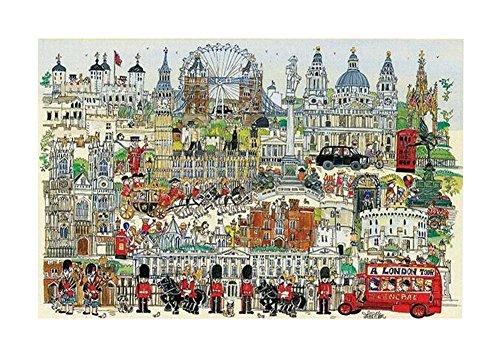 [Londres] 1000 Piece Wooden Jigsaw Puzzles Classic Rompecabezas de Juguete