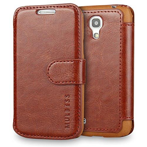 Mulbess Cover per Samsung Galaxy S4 Mini, Custodia Pelle con Magnetica per Samsung Galaxy S4 Mini Caso, Marrone