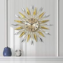 Wall Clock - Metal/Personality/Home/Clock, Retro Fashion Wall Clock Living Room Bedroom Creative Mute Clock Wall Clock (60...