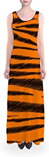 Rainbow Rules Tigger Stripes Winnie The Pooh Inspired Flared Maxi Dress
