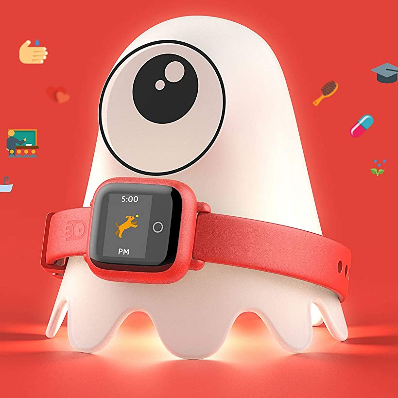 New - Octopus Kids Smart Watch v2 - Red - Plan Activities, Responsibilities and Healthy Habits - Fitness Tracker and Electronic Daily Schedule - Night Light Included