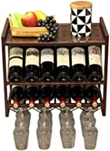 HTTJJ Wine Rack for Wall mounting |Bottle and Glass Holder |Cork Storage Store |Come with 12 Cork Wine Charms |Home & Kitc...