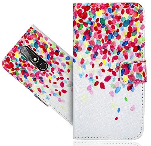 Nokia 6.1 Plus (2018) / Nokia X6 Handy Tasche, FoneExpert® Wallet Hülle Flip Cover Hüllen Etui Hülle Ledertasche Lederhülle Schutzhülle Für Nokia 6.1 Plus (2018) / Nokia X6