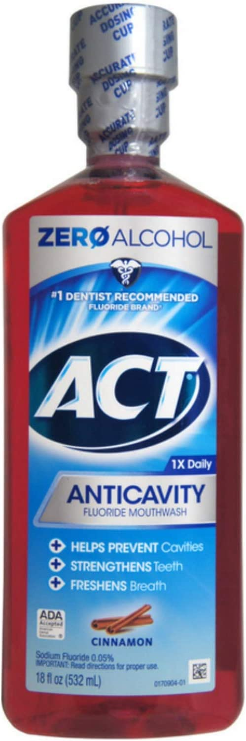 ACT Anticavity Fluoride Rinse 40% OFF Cheap Sale San Francisco Mall Cinnamon oz of Pack 18 4
