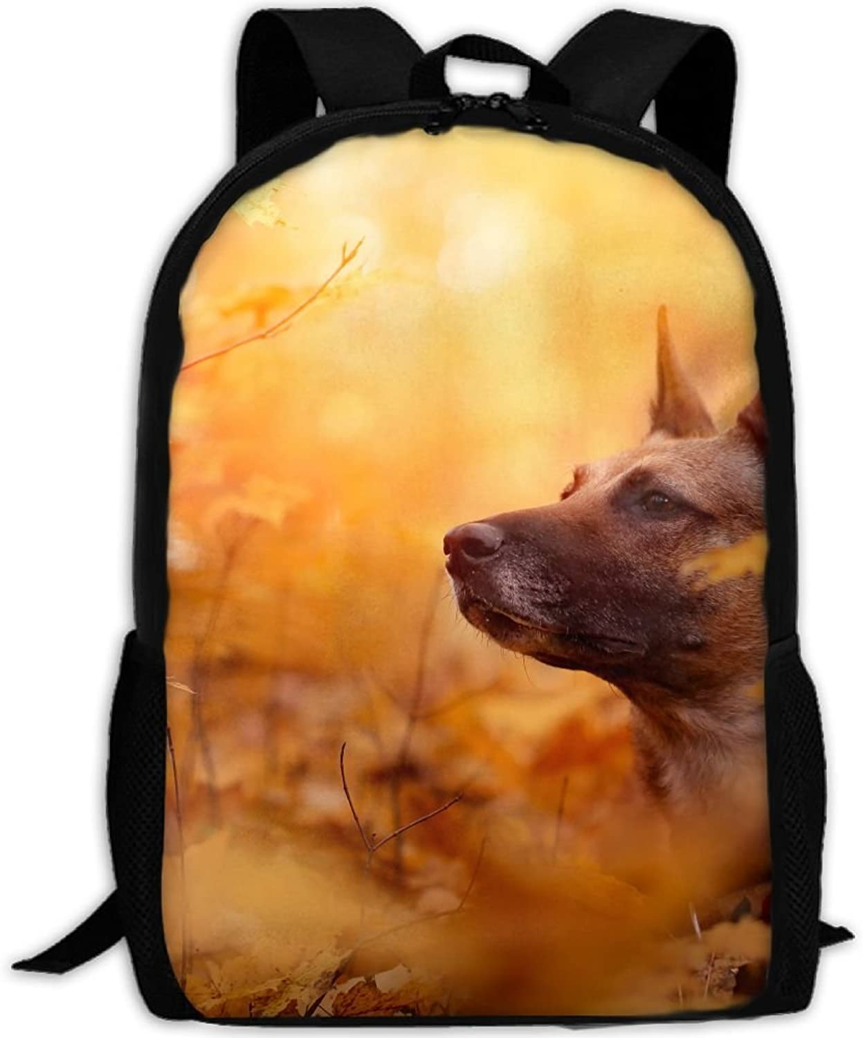 Maple Tree Autumn Yellow Leaves Casual Daypack Travel Bag College School Backpack for Mens and Women School Bags, Pencil Cases & Sets