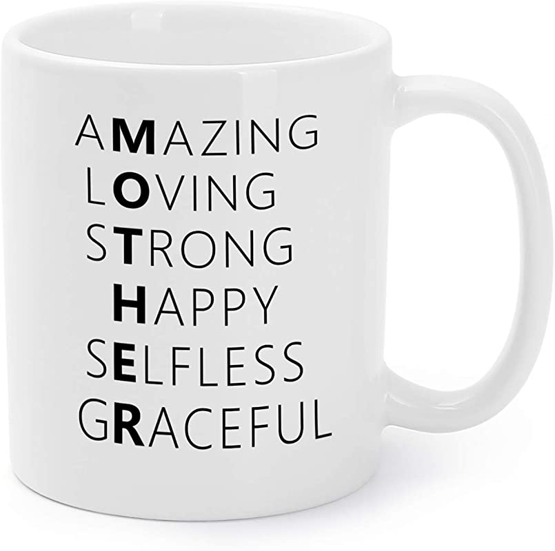 Mother S Day Mugs Birthday Presents Gifts For Mommy Mom Amazing Loving Strong Happy Selfless Graceful Coffee Tea Cups 11 Oz