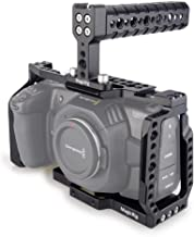 MAGICRIG BMPCC 4K /BMPCC 6K Cage with Top Handle for Blackmagic Pocket Cinema Camera BMPCC 4K /6K to Mount Microphone Monitor LED Light