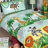 Jungle-Tastic Junior - Juego de funda de edredón y funda de almohada