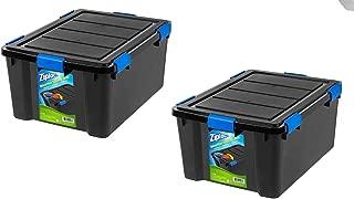 Ziploc 60 Qt. WeatherShield Storage Box, Black - 2 Pack